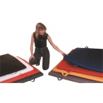 Fabrication Enterprises CanDo Mat with Handle: Non Folding, 2 Inch Pu Foam with Cover, 5 x 10 Foot, Specify Color.