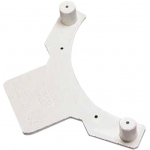 Raised toilet seat, accessory, slip-on bracket