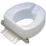 Raised toilet seat, accessory, bolt-down bracket