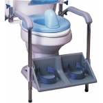 Columbia®  Toilet Support - Accessory only, footrest and armrest