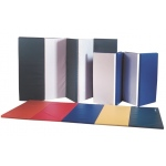 "CanDo® Accordion Mat - 1-3/8"" EnviroSafe® Foam with Cover - 4' x 10' - Rainbow Colors"