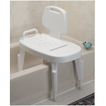 Shower transfer bench, adjustable