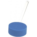 Back scrubber, 22 inch straight handle, 5 inch round sponge
