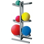 "CanDo® Plyometric Ball Rack - Two-Sided - Holds 6 Balls - 20""W x 12""D x 32""H"
