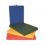 Fabrication Enterprises CanDo Mat with Handle: Center Fold, 2 Inch EnviroSafe™, Foam with Cover, 6 x 12 Foot, Specify Color