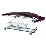 "treatment table - electric hi-low, 76"" L x 27"" W x 18""- 37"" H, 5-section, casters"