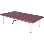 "Fabrication Enterprises Bariatric Mat Platform Table: Hand Crank, Steel Frame, 900 lb. weight capacity, 84"" L x 48"" W x 20"" - 30"" H"