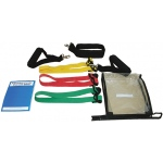 CanDo® Adjustable Exercise Band Kit - 3 band (red, green, blue)