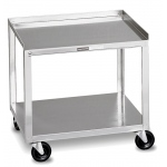 Fabrication Enterprises Mobile Stand: Stainless Steel, 2-Shelf