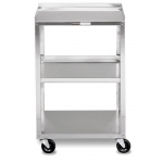 Fabrication Enterprises Mobile Stand: Stainless Steel, 3-Shelf