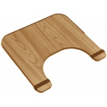 Generic Wheelchair Tray: Economy, 24 x 20 Inches, Wood Finish