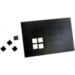 "Dycem Non-Slip Self-Adhesive Squares: 1/2"" Each, 24/Sheet, Black"
