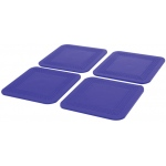 Dycem Non-Slip Square Coasters: Set of 4, Blue