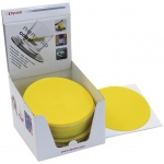 "Dycem 5.5"" Round Table Mat Display: 25/Dispenser, Yellow"