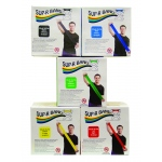 Sup-R Band® Latex Free Exercise Band - 50 yard roll - 5-piece set (1 each: yellow, red, green, blue, black)