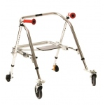 Fabrication Enterprises Kaye Posture Rest Walker with Seat: Young Adult