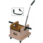 Fabrication Enterprises FCE Work Device: Mobile Weighted Cart with Straight Handle and Accessory Box