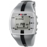 Polar FT4M Heart Rate Monitor Watch: Silver/Black, For Male