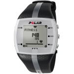 Heart Rate Monitor Watch - Polar® FT7M - Black/Silver - for Male