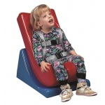 Tumble Forms® Floor Sitter - Seat and Wedge - medium - blue