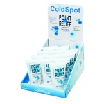 Fabrication Enterprises Point Relief ColdSpot Lotion: Retail Display with 12 x 4 oz. Gel Tube
