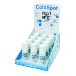 Fabrication Enterprises Point Relief ColdSpot Lotion: Retail Display with 12 x 3 oz. Roll-On Applicator