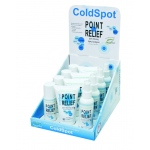 Fabrication Enterprises Point Relief ColdSpot Lotion: Retail Display with 4 x 3 oz. Spray, 3 oz. Roll-On and 4 oz. Gel
