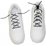 Generic Elastic Shoe Laces with Cord-Lock: White, 1 Pair