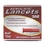 Advocate Pull-Top Lancets: 30G, Pack of 100