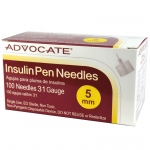 "Advocate Pen Needle: 31G, 5mm (3/16""), Pack of 100"