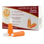 Advocate Safety Lancets: 28G x 1.8mm, Pack of 200