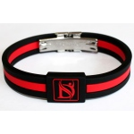 Dr-Ion Resizable Negative Ion Wristband with Clasp of Single Design: 11 Colors, without Wooden Box & Acrylic Case
