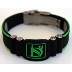 Dr-Ion Negative Ion Wristband with Clasp: Black/Green