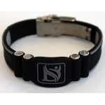 Dr-Ion Negative Ion Wristband with Clasp: Black/Grey, XS, 6.3""