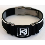 Dr-Ion Negative Ion Wristband with Clasp: Black/White