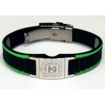 Dr-Ion Negative Ion Wristband with Clasp & Detachable Swarovski Head: Black/Green