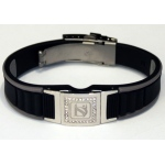 Dr-Ion Negative Ion Wristband with Clasp & Detachable Swarovski Head: Black/Grey