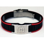 Dr-Ion Negative Ion Wristband with Clasp & Detachable Swarovski Head: Black/Red