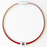 Dr-Ion Reversible Negative Ion Necklace of Dual Design: White/Red-Grey/White