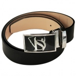 Dr-Ion Negative Ion Dress Belt in Genuine Leather with Buckle: 2 Colors, 3 Buckle Options, One Size, Type B