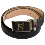 Dr-Ion Negative Ion Dress Belt in Genuine Leather with Buckle: Black, 3 Buckle Options, One Size, Type A