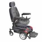 "Drive Medical Titan X16 Front Wheel Power Wheelchair, Full Back Captain's Seat, 18"" x 18"""