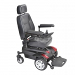 "Drive Medical Titan X23 Front Wheel Power Wheelchair, Vented Captain's Seat, 18"" x 18"""