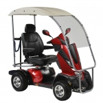 "Drive Medical King Cobra Personal Golf Vehicle Executive Power Scooter, 4 Wheel, 22"" Captain Seat"