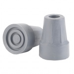 "Drive Medical Forearm Crutch Tip 5/8"", Gray, Pair, Blister Pack"