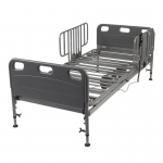 Drive Medical Competitor Semi Electric Hospital Bed with Half Rails