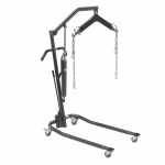 "Drive Medical Hydraulic Patient Lift with Six Point Cradle, 3"" Casters, Silver Vein"
