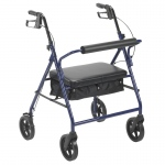 "Drive Medical Bariatric Rollator with 8"" Wheels, Blue"