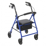 "Drive Medical Rollator with 6"" Wheels, Blue"