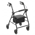 "Drive Medical Rollator with 6"" Wheels, Black"